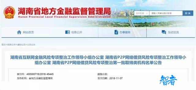 湖南首批取缔53家P2P网贷机构